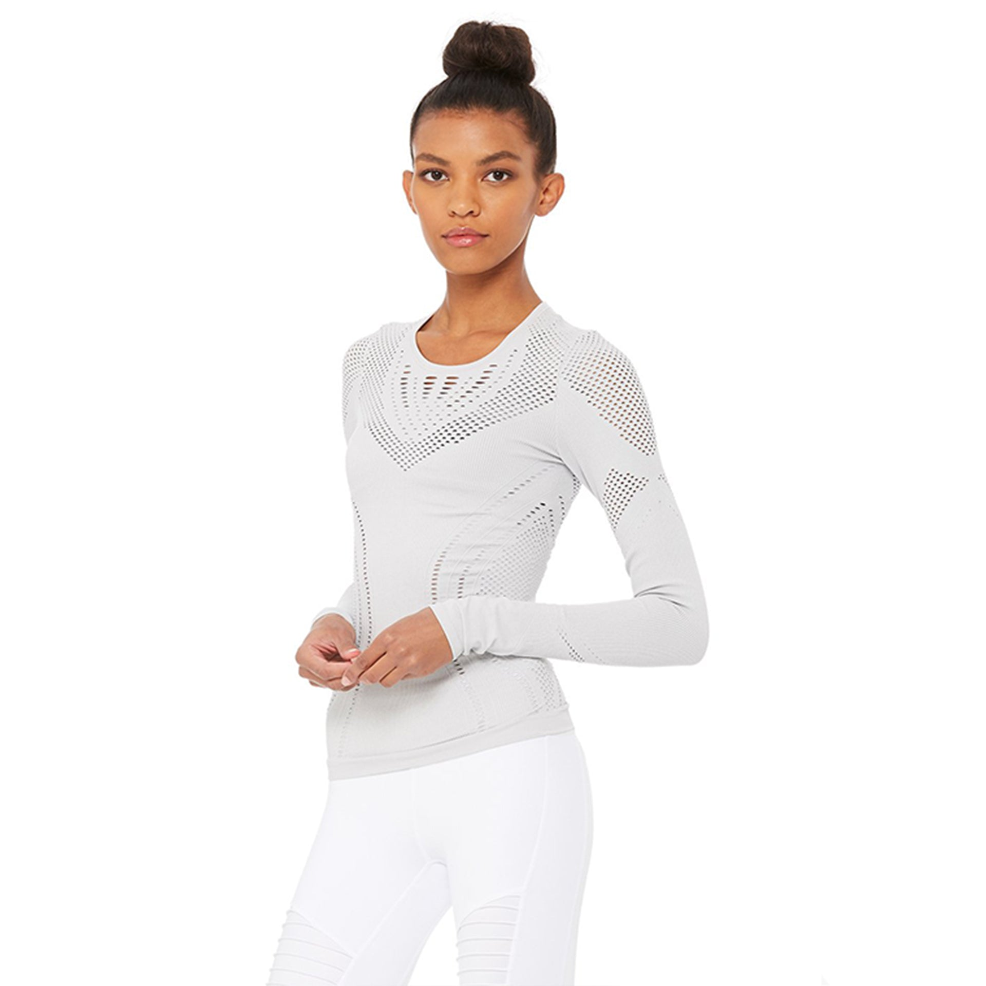 Alo Yoga Lark Long Sleeve in Dove Grey