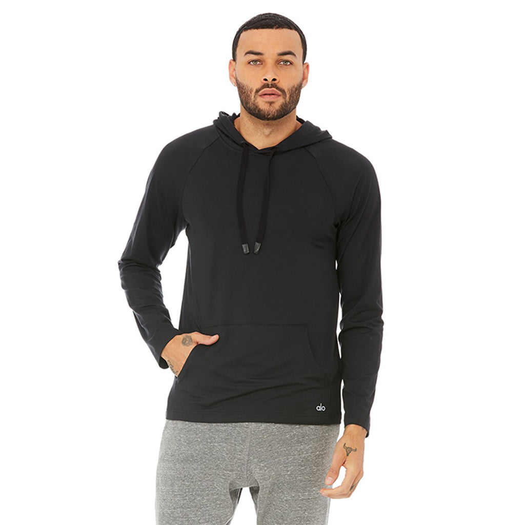 Alo Yoga Mens Conquer Hoodie in Black