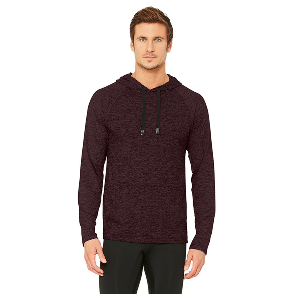 Alo Yoga Mens Conquer Hoodie in Oxblood