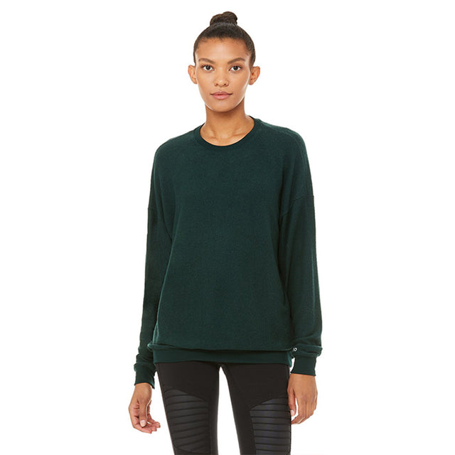 Alo Yoga Soho Pullover in Forest