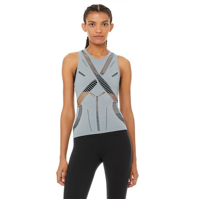 Alo Yoga Line Tank in Blue Haze