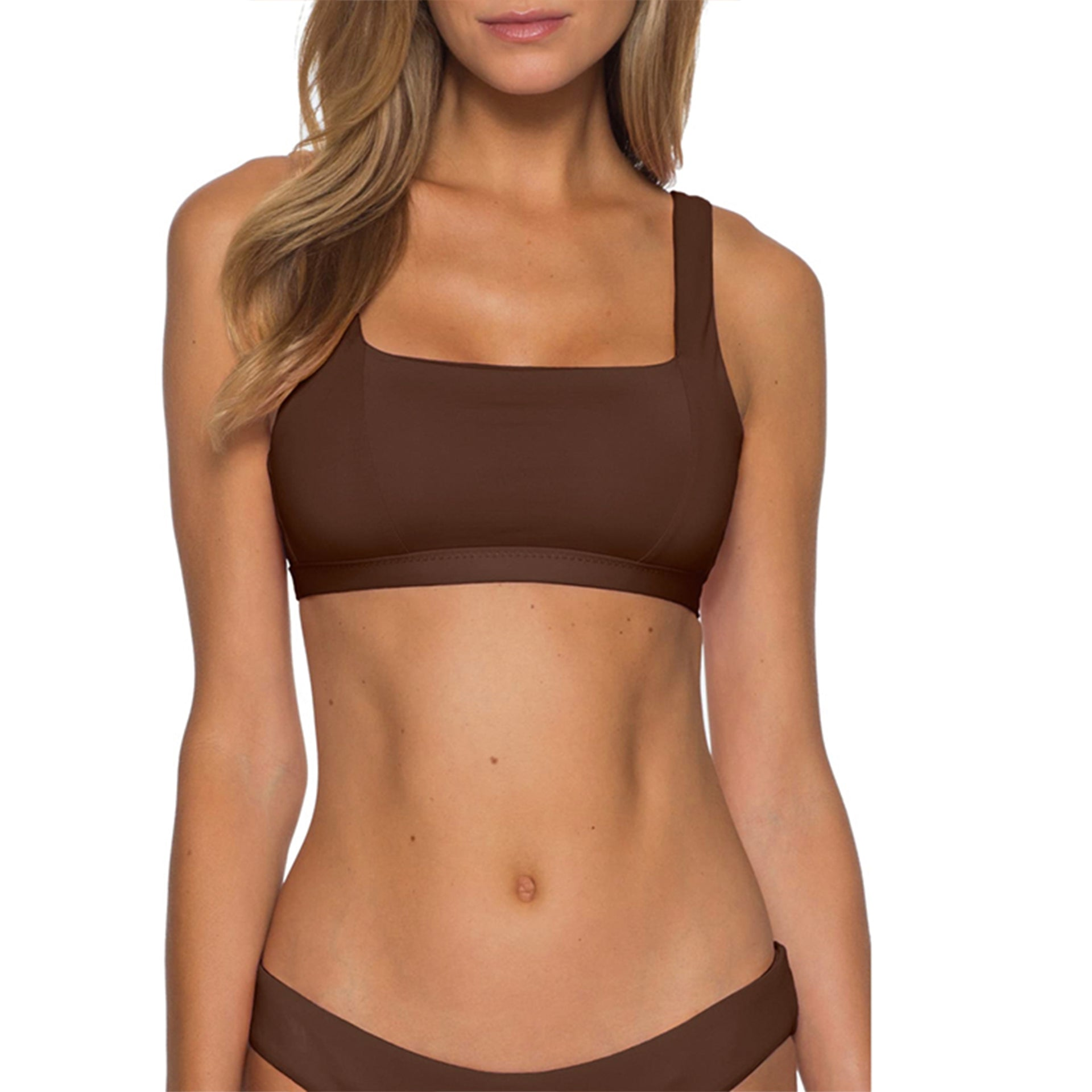 Becca by Virtue Color Code Bikini Top in Bronze