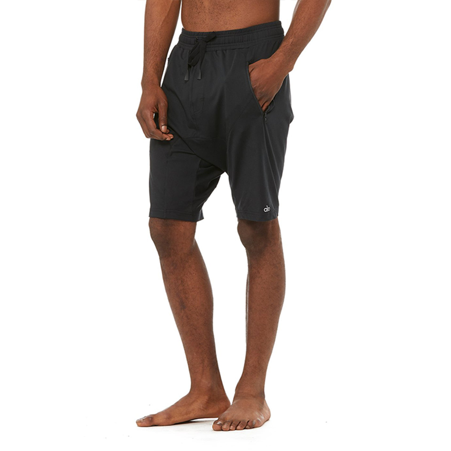 Alo Yoga Mens Crotch Short in Black