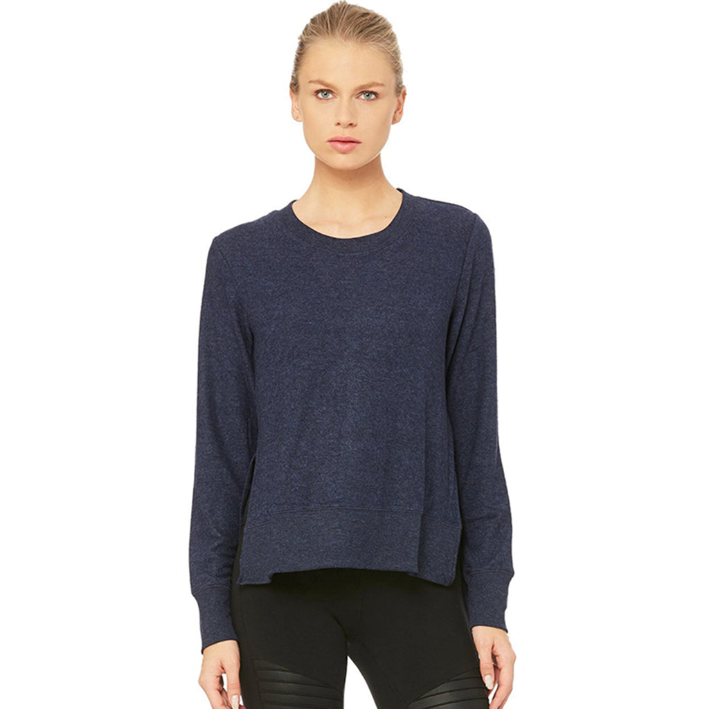 Alo Yoga Glimpse Long Sleeve in Navy