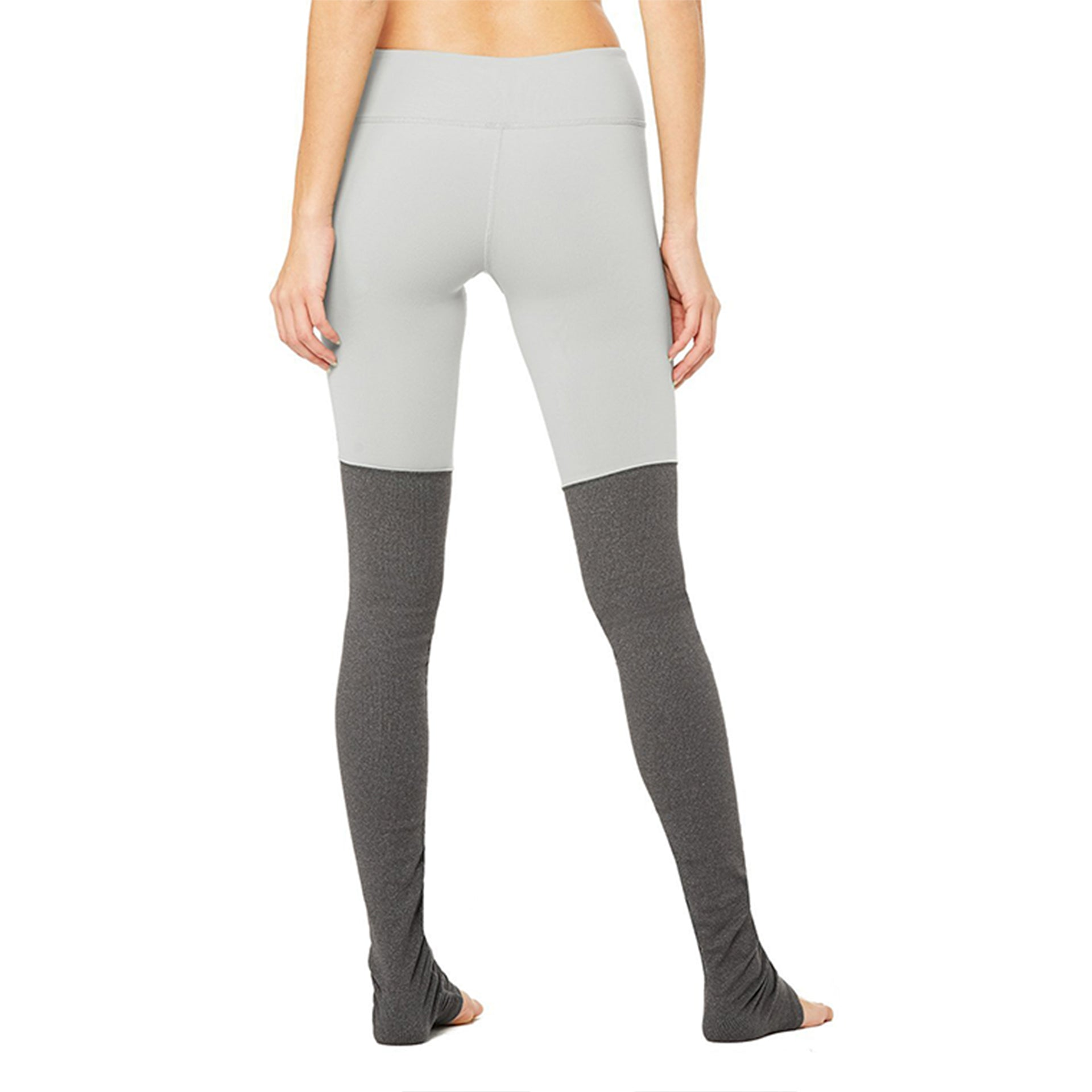 Alo Yoga Goddess Leggings in Alloy/Stormy Heather
