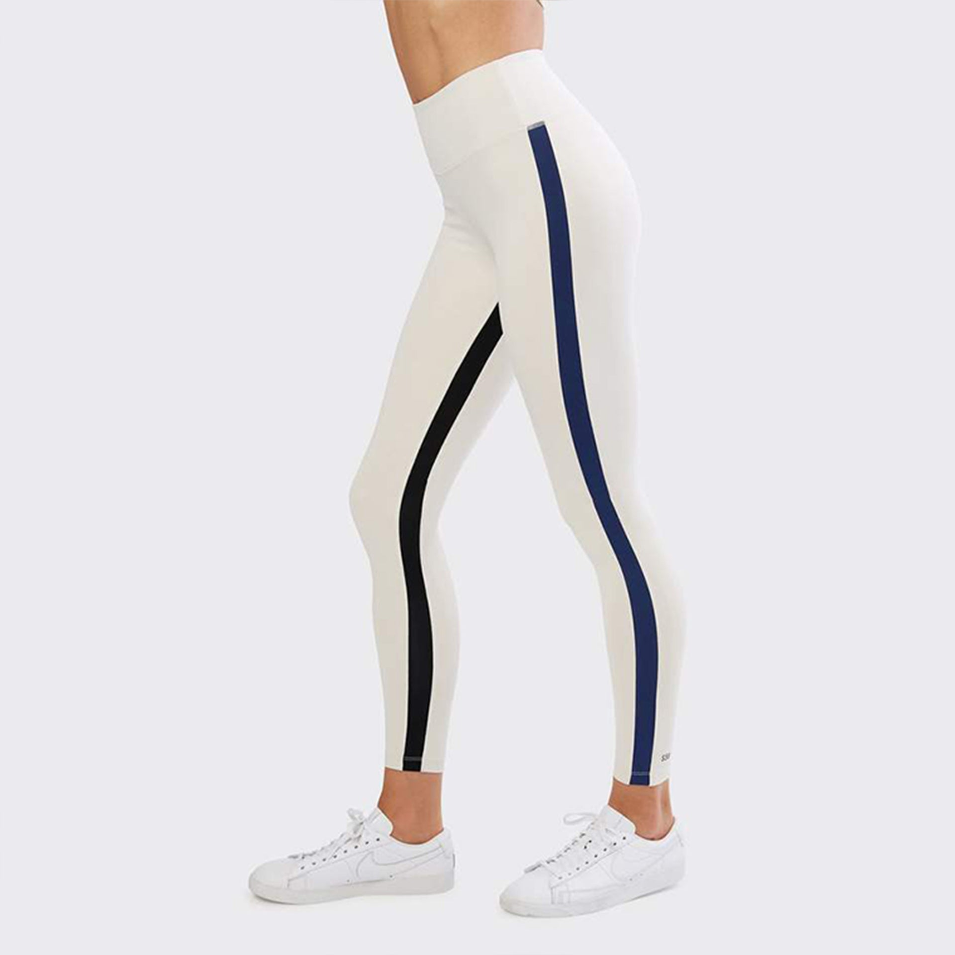 Splits 59 Inline Techflex 7/8 Leggings in Vintage White and Indigo