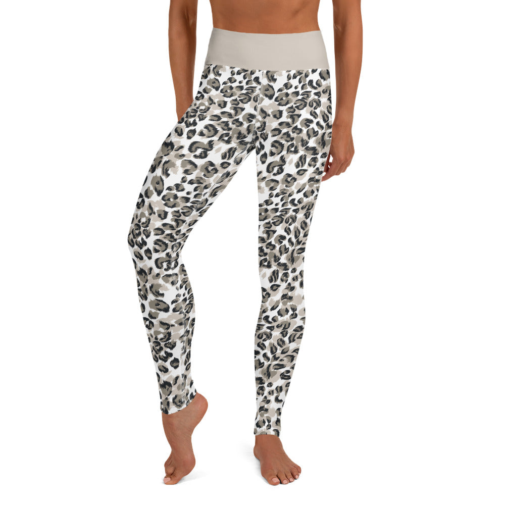 NEW Call Me Activewear Snow Leopard High Waist
