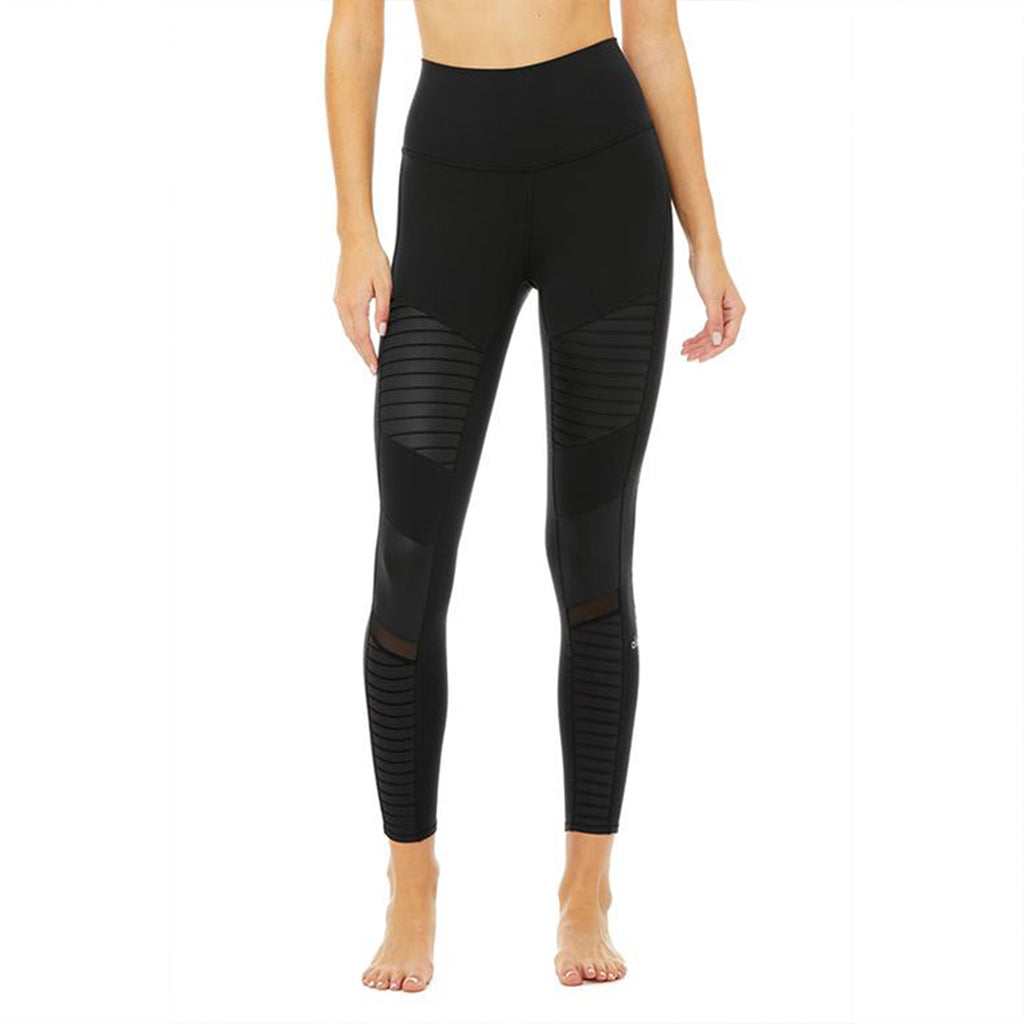 Alo Yoga High Waist Moto 7/8 Legging in Black