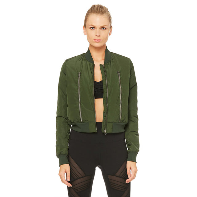 Alo Yoga Off Duty Bomber Jacket in Hunter SOLD OUT