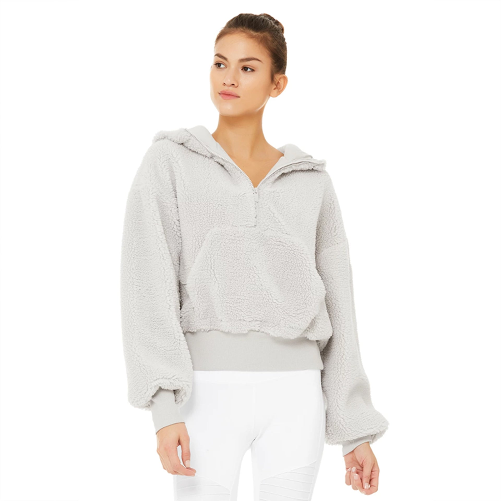 Alo Yoga Streetside Half Zip Hoodie in Dove Grey SOLD OUT