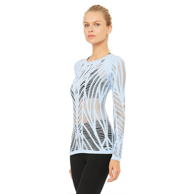 ALO Yoga Wanderer Long Sleeve in UV Blue