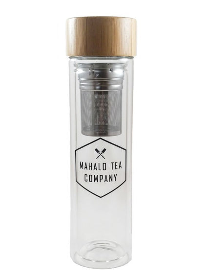 Mahalo Tea Black Glass Tea Infuser - 16oz