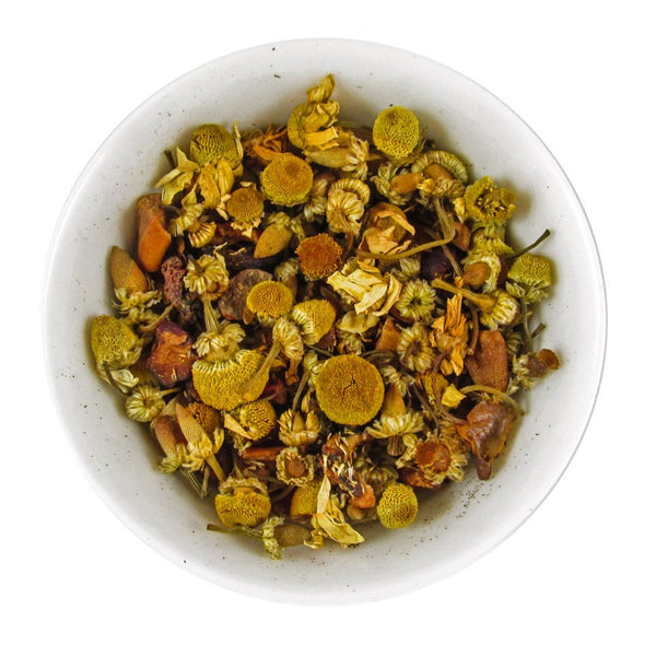 Spiced Apple Chamomile Blossom Herbal Tea