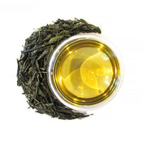 Pan Fired Sencha Green Tea Brewed