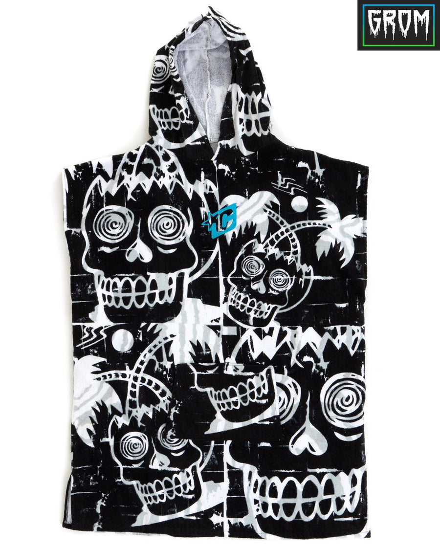 Grom Poncho - Black White