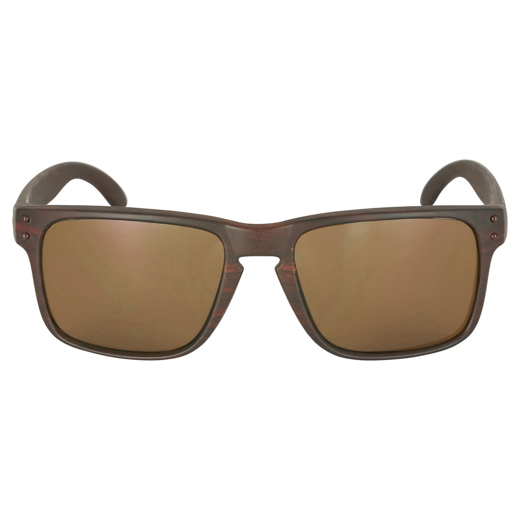 Brown Faux Wood Sunglasses