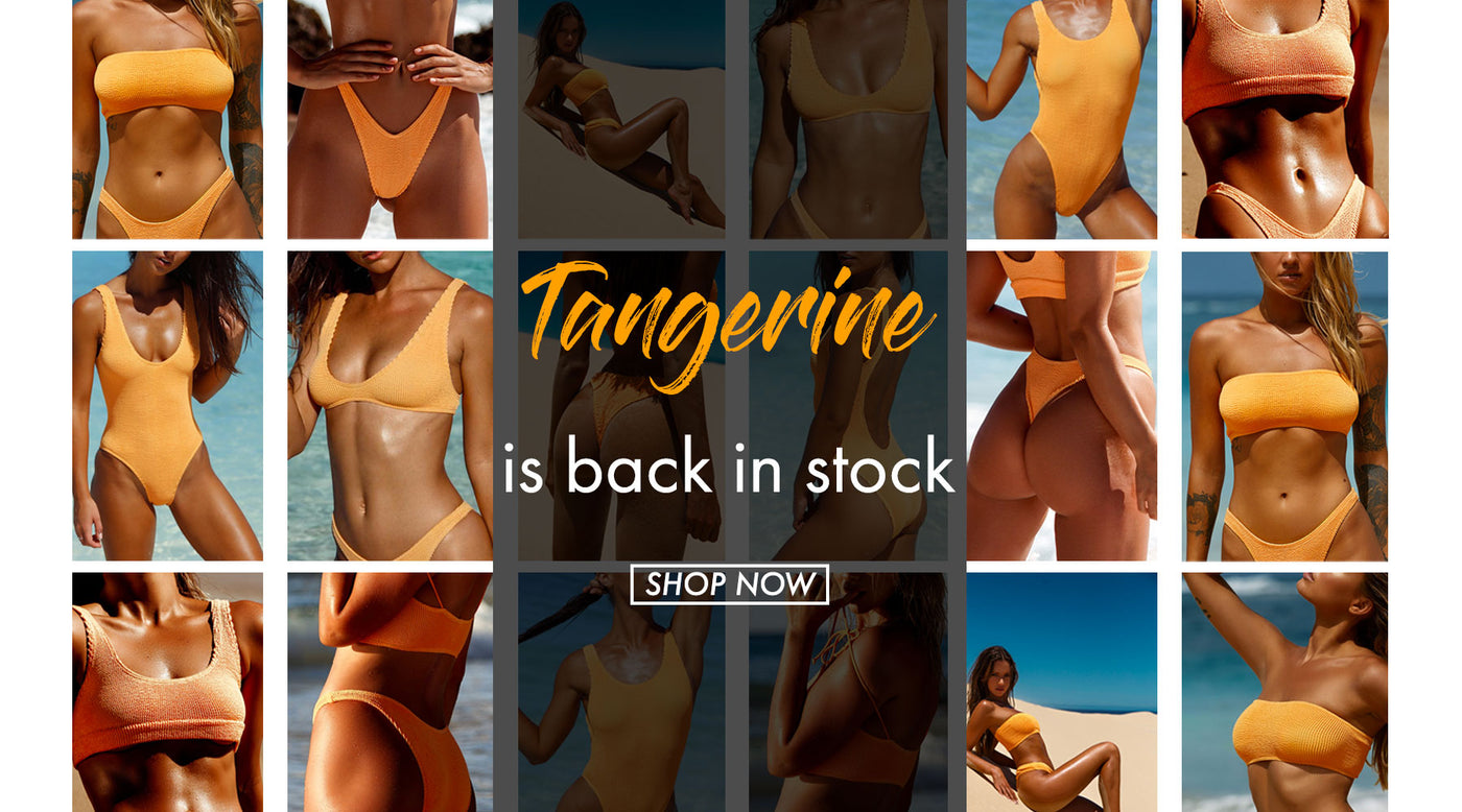 Tangerine is back in stock