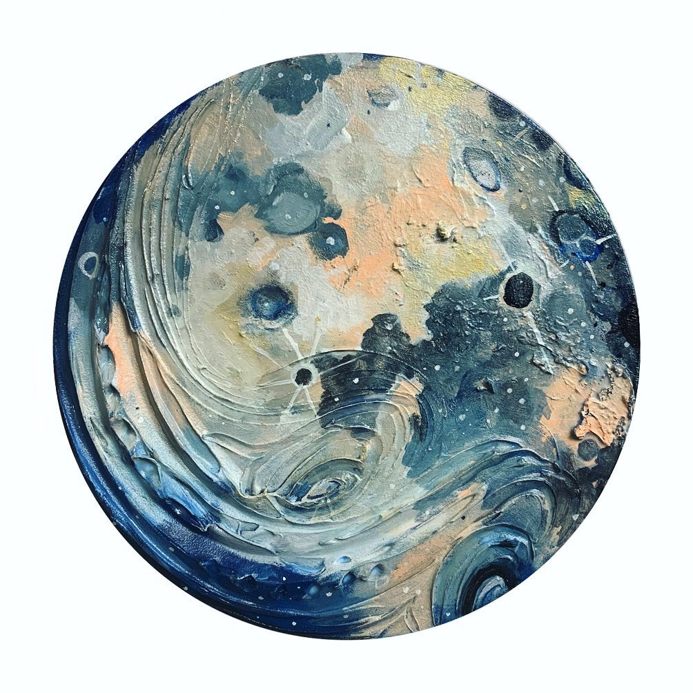 Lunar Collection - Full Moon in Blue 12""