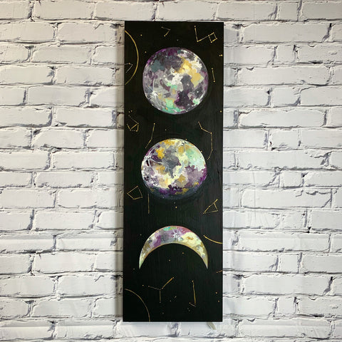 "Lunar Collection - Lunar Trio 12"" x 36"""