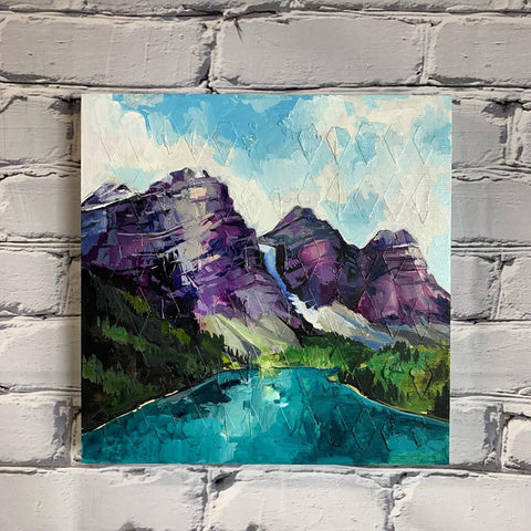 "Mountain Series - ""Moraine Lake"" 12"" x 12"""