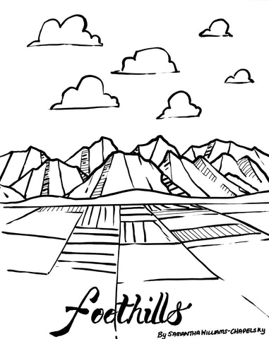 Foothills Coloring Sheet