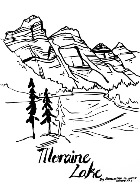 Moraine Lake Coloring Sheet