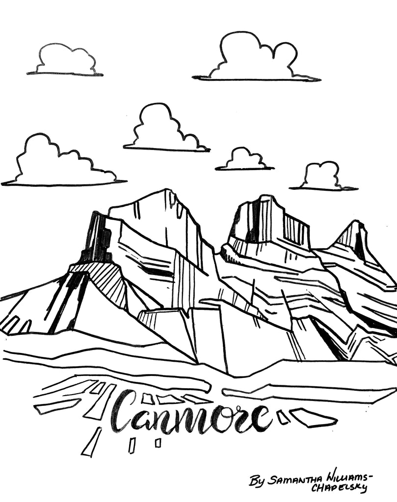 Canmore Coloring Sheet