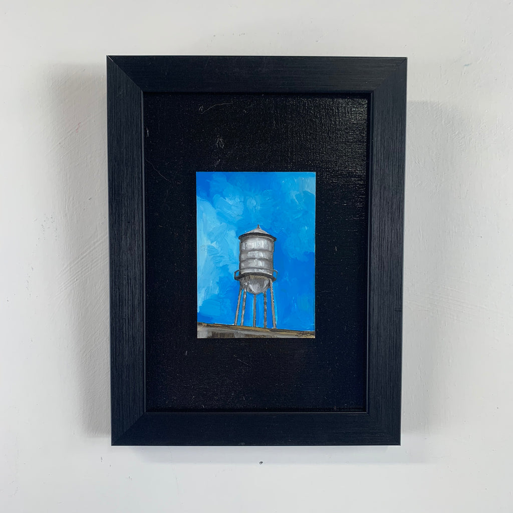 Water Tower Mini Oil Painting