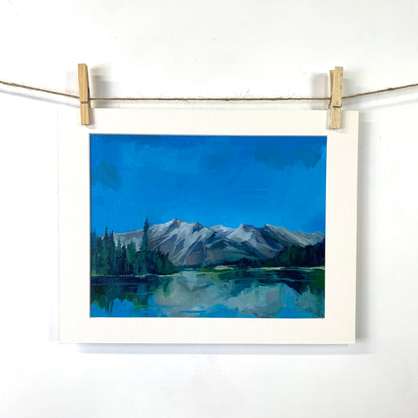Jasper Park Lodge View - Oil on Paper
