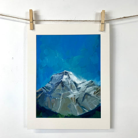 Mount Robson - Oil on Paper