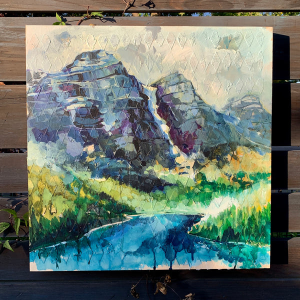 "Mountain Series - ""Dancing with the light"" 20"" x 20"""