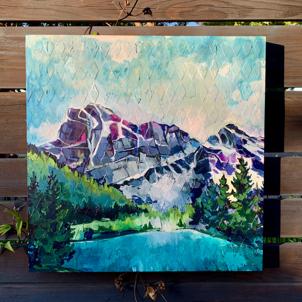 "Mountain Series - ""Arrive"" 20"" x 20"""