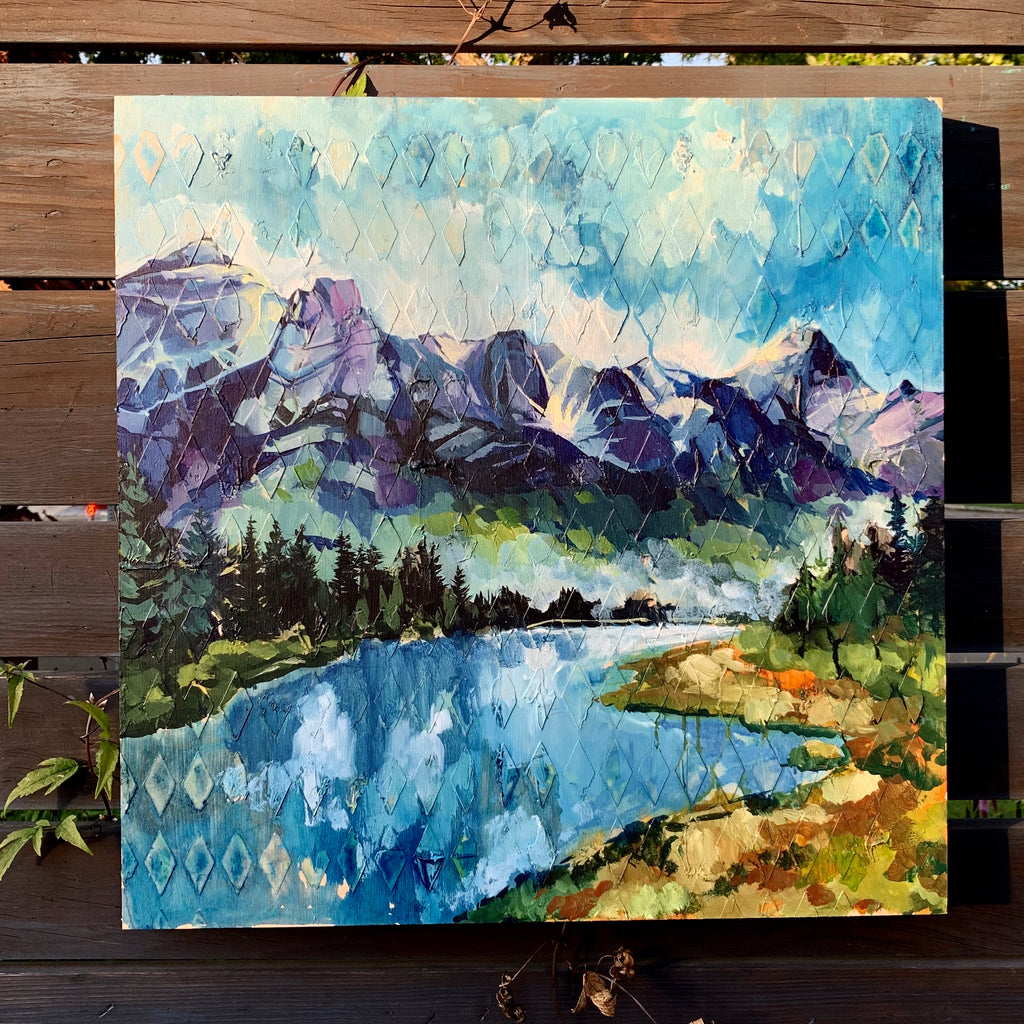 "Mountain Series - ""Canmore"" 20"" x 20"""