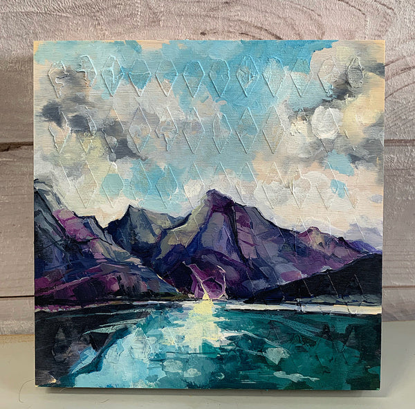 "Mountain Series - ""Medicine Lake"" 12"" x 12"""
