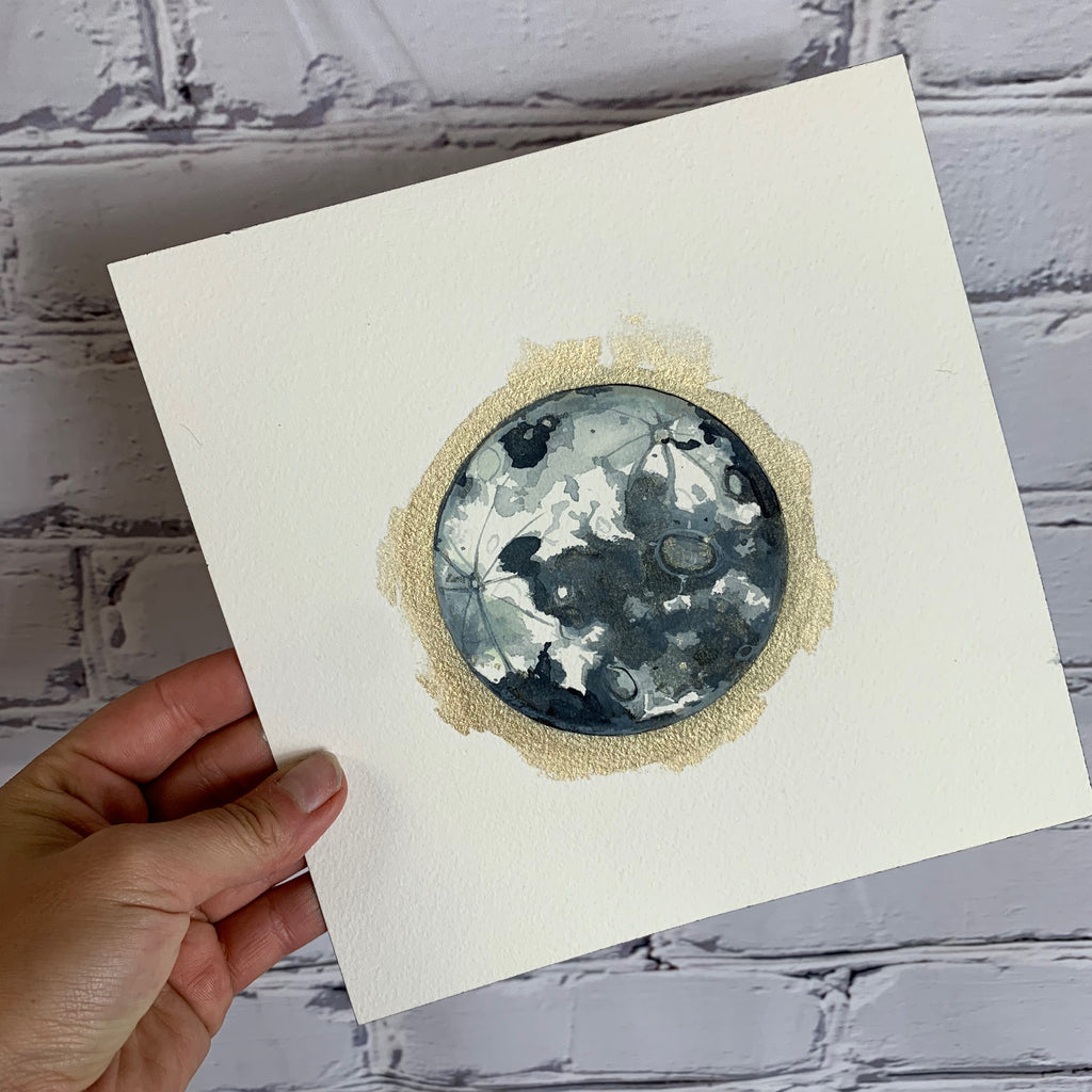 "Lunar Collection - Lunar Watercolor 8"" x 8"" Paper"