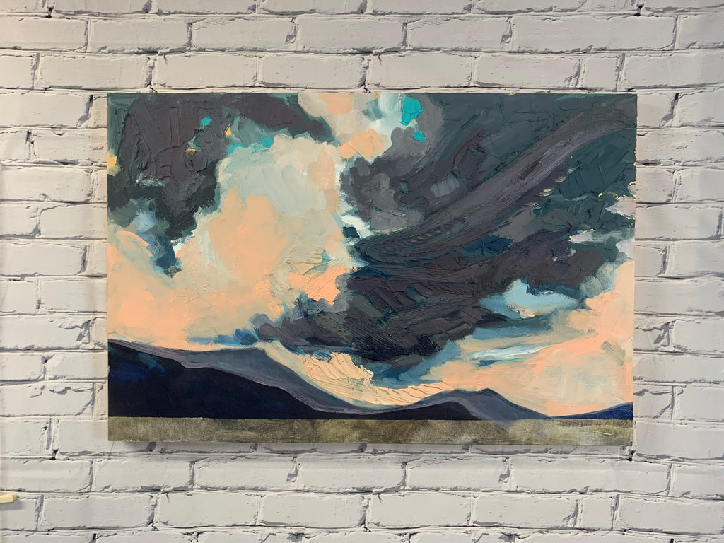 "Sea to sky Mountains - 24"" x 36"" Acrylic on Panel"