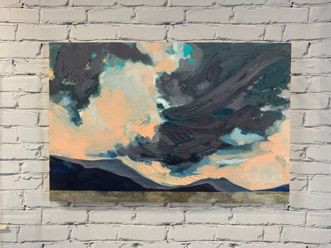 "Mountain Light - 24"" x 36"" Acrylic on Panel"