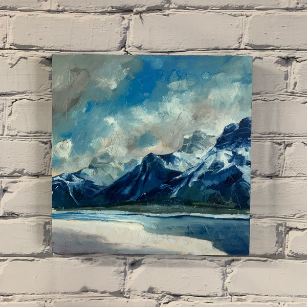 "Original Oil Painting - ""When you can smell the mountain air"" 12"" x 12"""