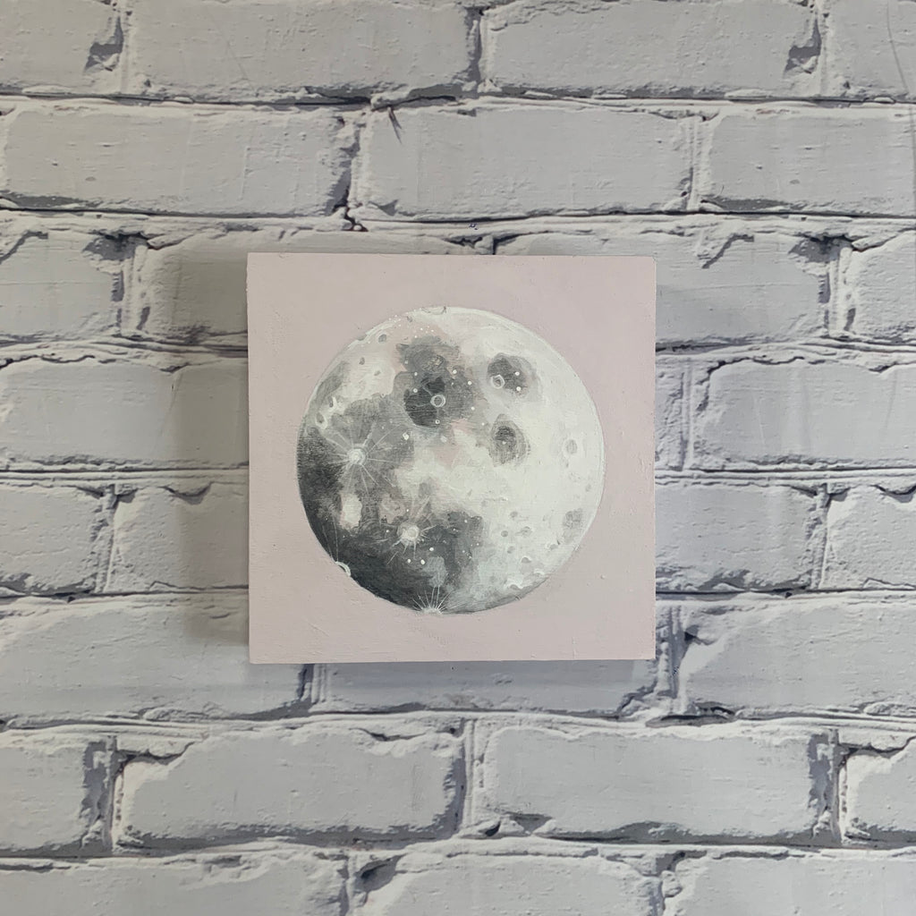 "Lunar Collection: Spring 2020 8"" x 8"" Light Purple Moon"