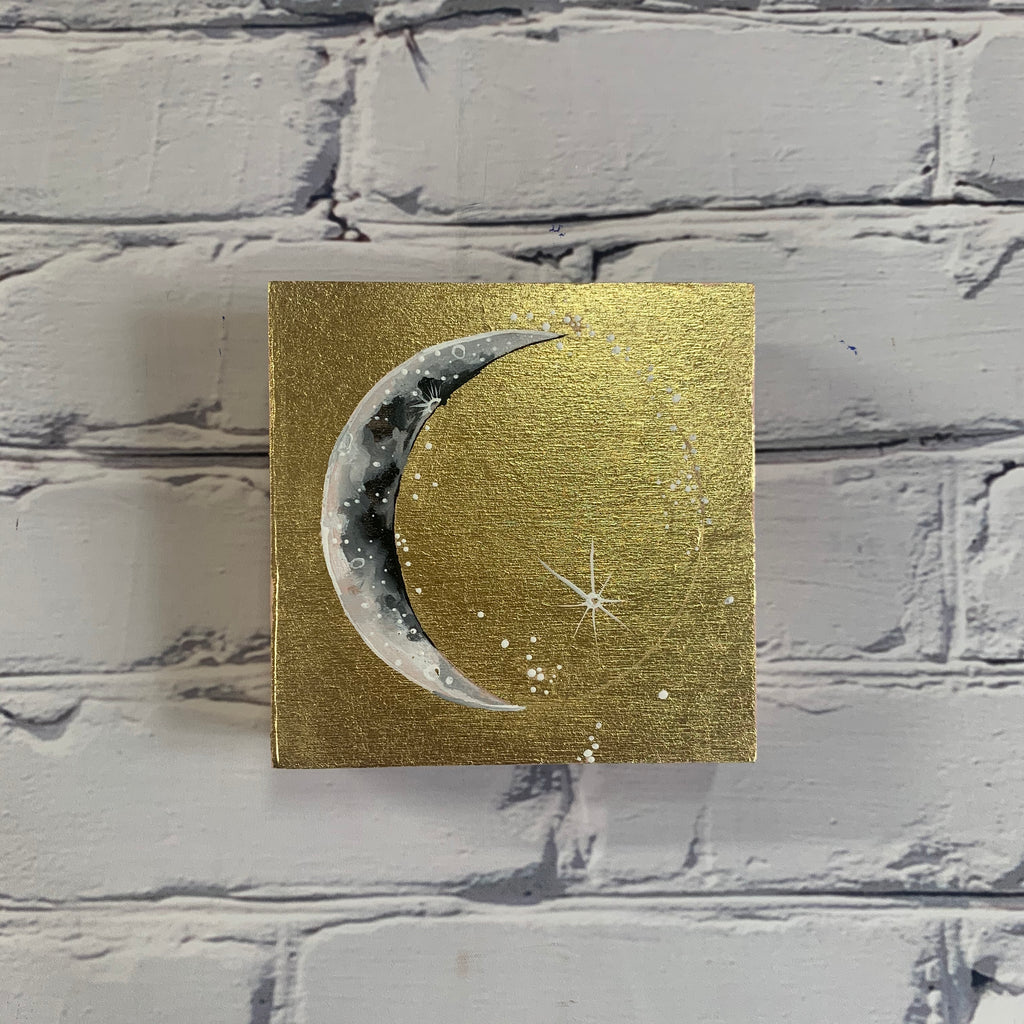 "Lunar Collection: Spring 2020 5"" x 5"" Crescent Moon"