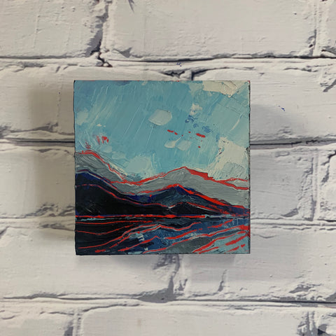 "Mountain Layers 5"" x 5"""