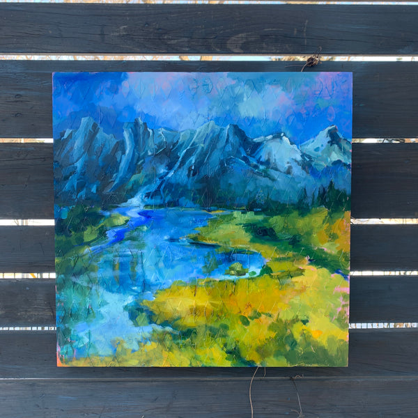 "Original Oil Painting- Canmore View 20"" x 20"""