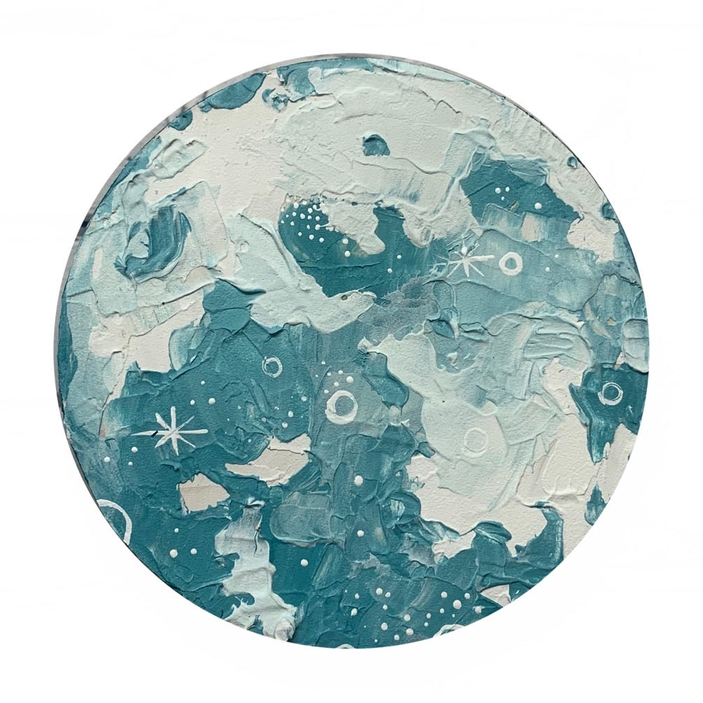 Lunar Collection - Ocean Blue Moon 8""