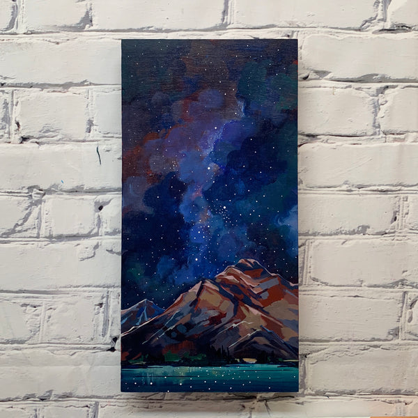 "Pyramid Lake and the Stars 8"" x 16"""