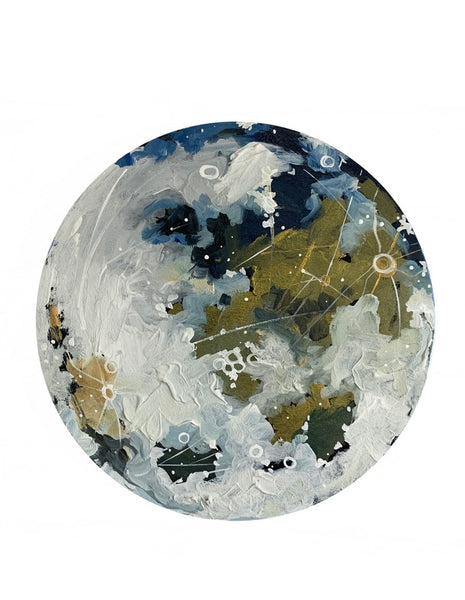 Lunar Collection: Gold and blue moon 12""