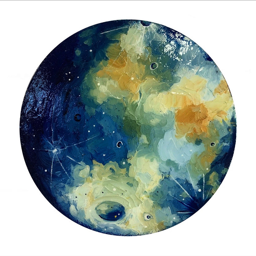 2020 Lunar Collection - high shine gibbous moon 12""