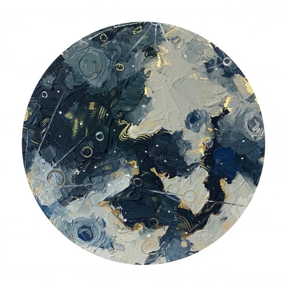 Lunar Collection - Full Moon with Gold 12""