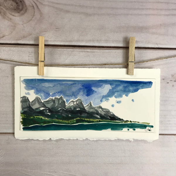 Original Watercolor - Canmore Sketch