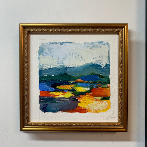 Oil Landscape on Paper - Framed