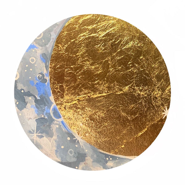 Lunar Collection - Gold Crescent Moon 6""